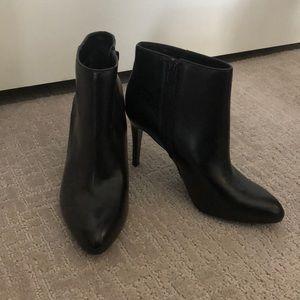 J.Crew Black Leather High Heel Ankle Booties